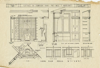 Architectural plan, cottage in Thompson Road for Florence Morecroft