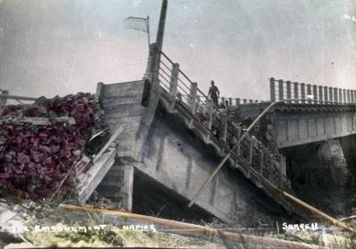 The embankment road and bridge,  Napier; Sorrell, Percy Caz