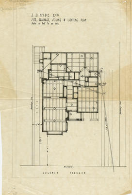 Architectural plan, proposed residence for J D Hyde, Coleman Terrace, Napier,