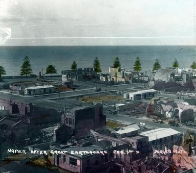 Napier after the great earthquake