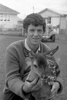 Graeme Woolley holding fawn