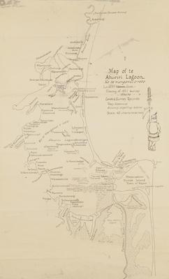 Map, Te Ahuriri Lagoon