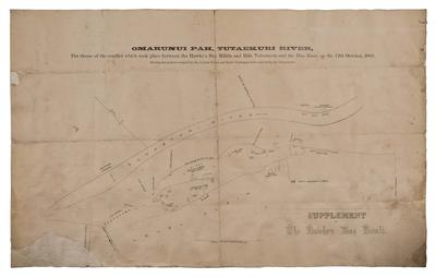 Map, Ōmarunui Pā, Tutaekuri River
