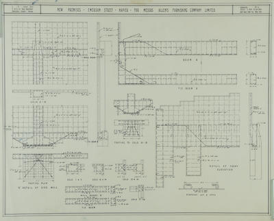 Architectural plan, Allen's Furnishing Company Limited, Emerson Street, Napier