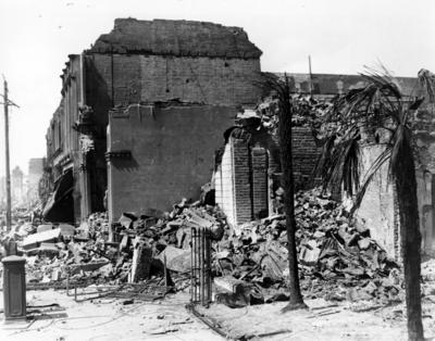 Napier, damaged buildings