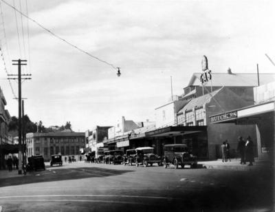Corner of Hastings Street and Dickens Street, Napier