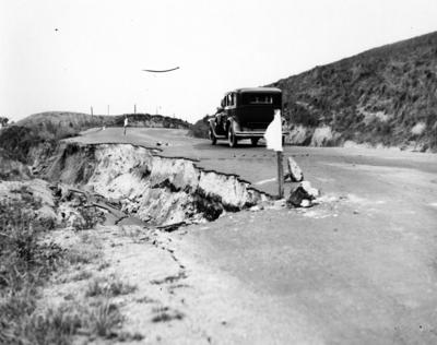 Slip on the road between Waipawa and Hastings