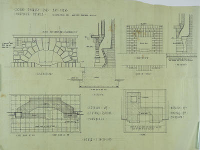 Architectural plan, John Shirley's residence at Bay View, Napier