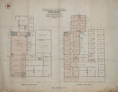 Architectural plan, Clyde Hotel, Wairoa