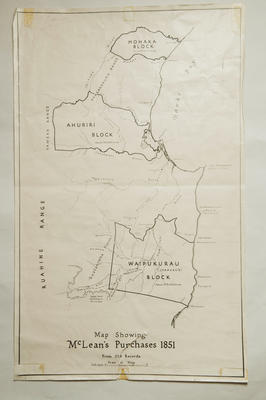 Map, photocopy, McLean's purchases