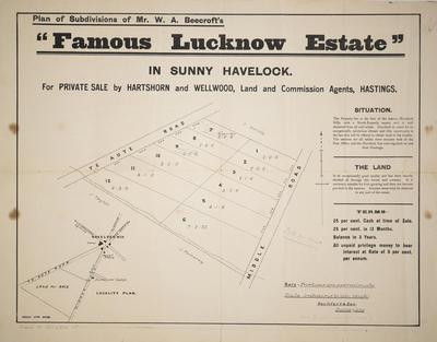 Plan, Havelock Hills