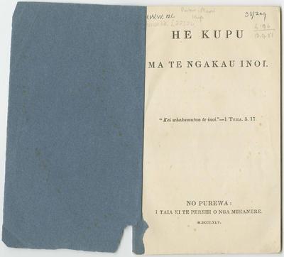 Collection of Hawke's Bay Museums Trust, Ruawharo Tā-ū-rangi, 38/209