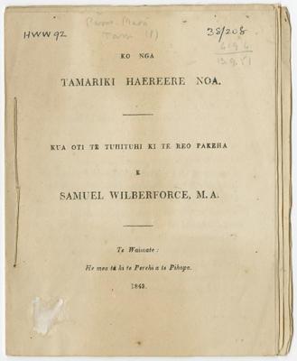 Collection of Hawke's Bay Museums Trust, Ruawharo Tā-ū-rangi, 38/208