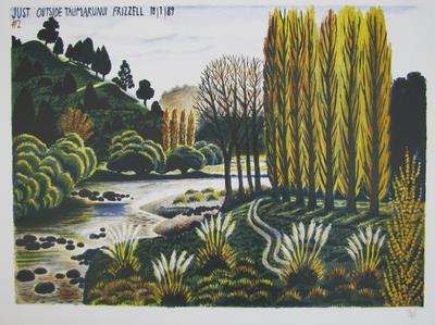 Just Outside Taumarunui #2; Frizzell, Richard John; Muka Youth Print; 2011/42/41