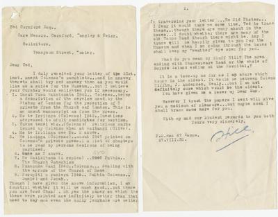 Letter, Henry Hill