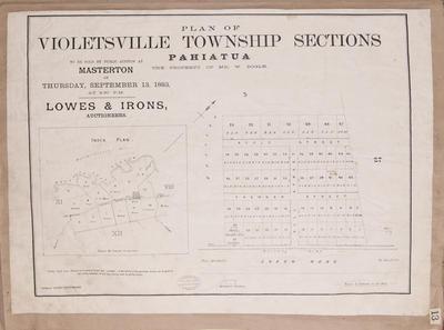 Plan, Violetsville Township sections, Pahiatua