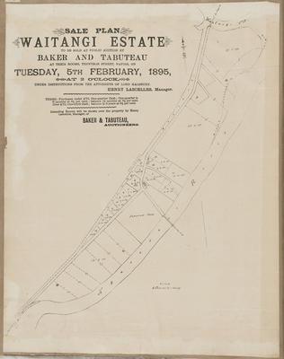 Plan, Waitangi Estate sections for sale