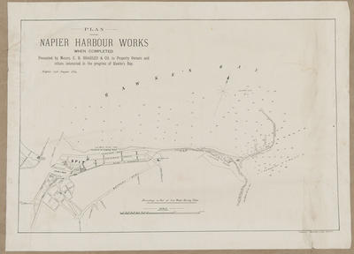 Plan, Napier harbour works; Herald Lithography