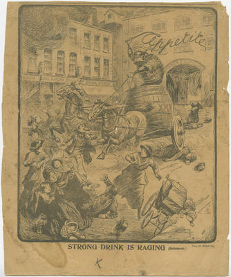 Poster, Temperance Cartoon