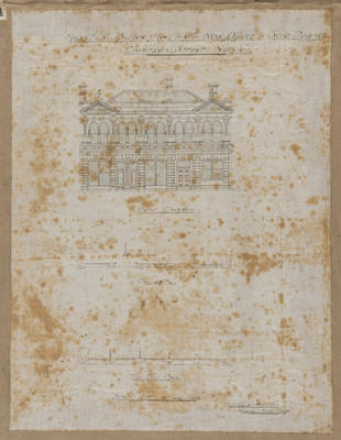 Architectural plan, new offices and sale rooms for  C B Hoadley & Co; Lamb, Robert