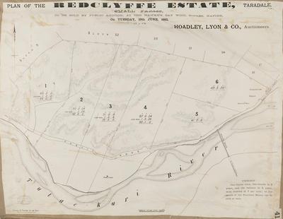 Plan, Redcliffe Estate small farms - Taradale