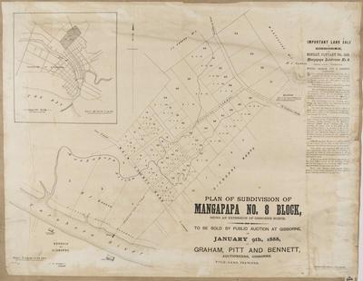 Plan, Mangapapa No 8 land block; Kennedy, Arthur Angus; Reardon, C W; Herald Lithography