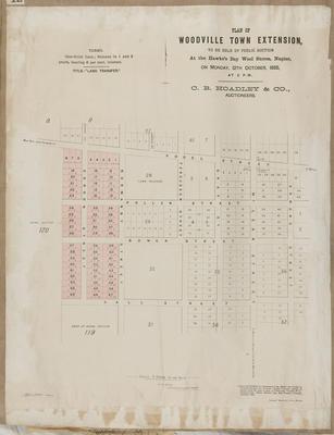 Plan, Woodville Town extension
