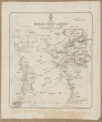 Cadastral map, Waimata Survey District