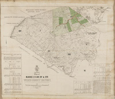 Cadastral map, Weber Survey District; McKerrow, James; Department of Lands & Survey; Duncan, George