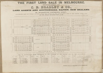 Plan, The first land sale in Melbourne