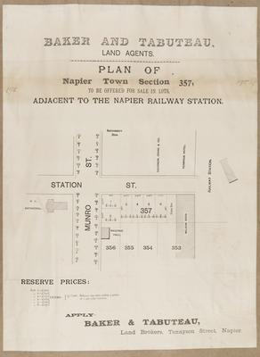 Plan, Napier town section 357