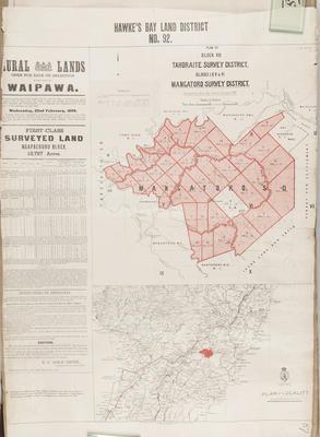Plan, Hawke's Bay district No 92; Smith, Stephenson Percy; Hay, James; Department of Lands & Survey
