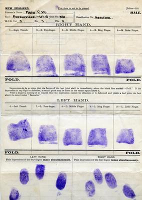 Form, fingerprints