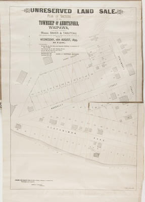 Plan, sections of the Abbotsford township