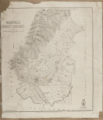 Cadastral map, Woodville SD; Baker, Horace; Department of Lands & Survey; Duncan, George