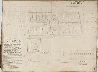 Plan,Township of Campbell and German Town sections for sale