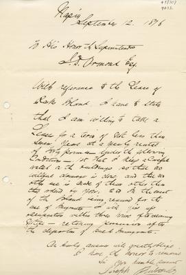 Letter, Joseph Richards