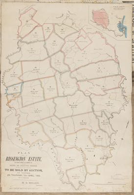 Plan, Rissington Estate; Jarman, Alfred; Rochfort, James; Herald Lithography