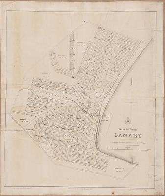 Cadastral map, Oamaru; Department of Lands & Survey; McColl, A; Thomson, John Turnbull; Fairburn, E