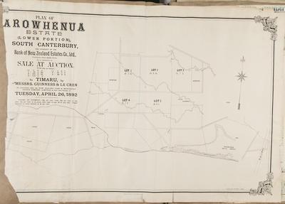 Plan, Arowhenua Estate; Wilson & Horton Ltd
