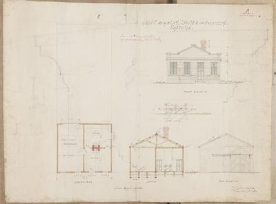 Architectural plan, Messrs Hoadley, Lyons & Co offices; Lamb, Robert