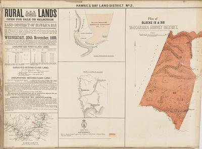 Plan, Hawke's Bay Land District No 2; Duncan, George; Williams, G W; Smith, Stephenson Percy; Department of Lands & Survey
