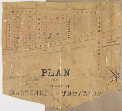 Plan, Hastings sections; Kennedy, Charles Dugald