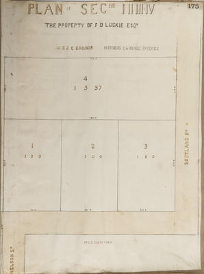 Plan, Hastings sections