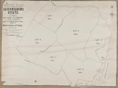 Plan, portion of H S Tiffen Greenmeadows Estate; Rochfort, James