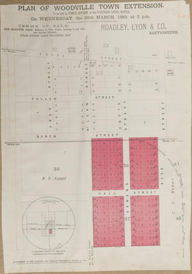 Plan, Woodville town extensions