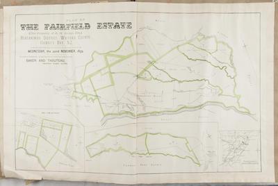 Plan, Fairfield Estate