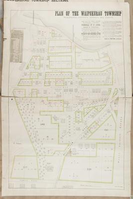 Plan, Waipukurau township sections; Herald Lithography