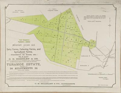Plan, Turamoe Estate