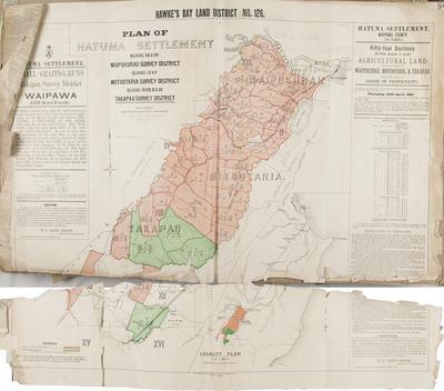 Plan, Hawke's Bay land district No 126; Goldsmith, E C; MacKay, John; Marchant, J W A; Flanagan, F W; Department of Lands & Survey; Duncan, George; Hay, James; Stevenson, J; Farnie, E H